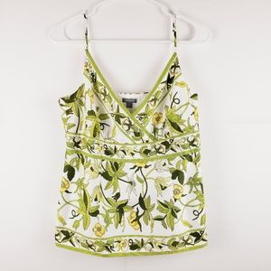 Ann Taylor Floral Fully Lined Tank Top Size 8